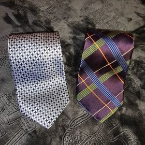 Two Robert Talbott Silk Men's Ties